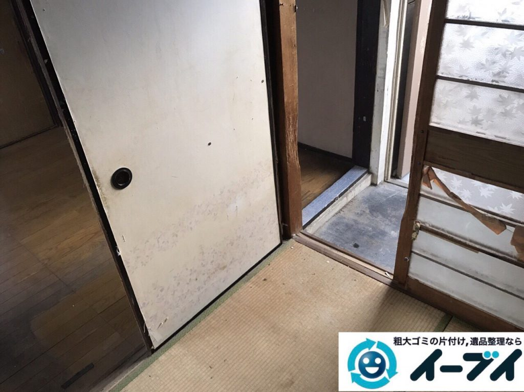 2017年12月3日大阪府豊中市で遺品整理に伴う家具や生活用品の粗大ゴミの片付けをしました。写真7