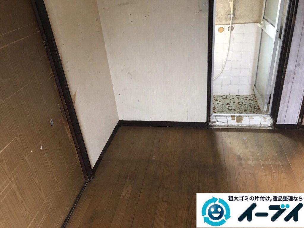 2017年12月3日大阪府豊中市で遺品整理に伴う家具や生活用品の粗大ゴミの片付けをしました。写真1