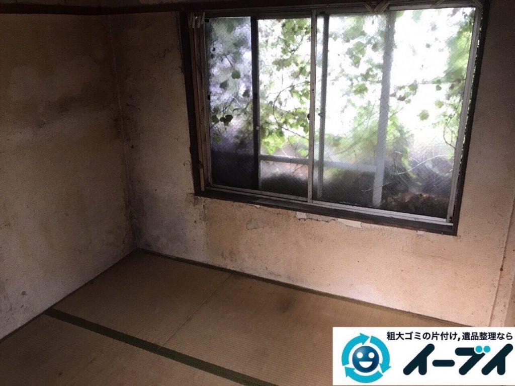 2017年12月3日大阪府豊中市で遺品整理に伴う家具や生活用品の粗大ゴミの片付けをしました。写真3