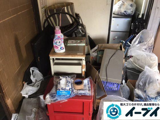 2017年12月3日大阪府豊中市で遺品整理に伴う家具や生活用品の粗大ゴミの片付けをしました。写真2