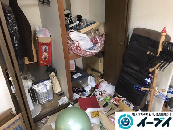 2017年12月24日大阪府大阪市西淀川区で引越し後の粗大ゴミの不用品回収作業。写真4