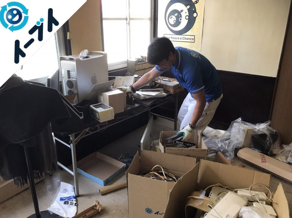 2017年12月27日大阪府大阪市中央区で事務所の移転に伴う不用品回収作業。【前半】写真2