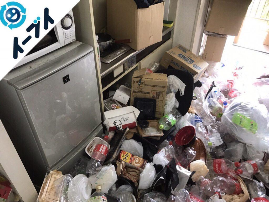 2017年12月30日大阪府大阪市鶴見区で汚部屋状態のゴミの片付け処分をしました。写真2