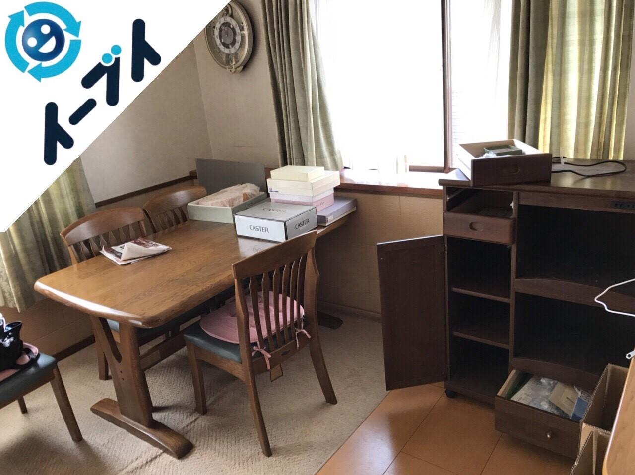 2017年12月18日大阪府門真市で本棚やダイニングテーブル等を家具処分で不用品回収をしました。写真4