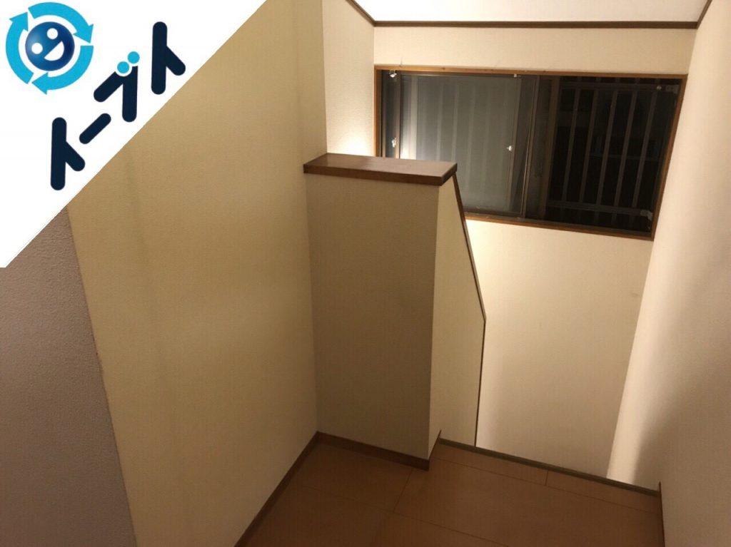 2017年12月18日大阪府門真市で本棚やダイニングテーブル等を家具処分で不用品回収をしました。写真1