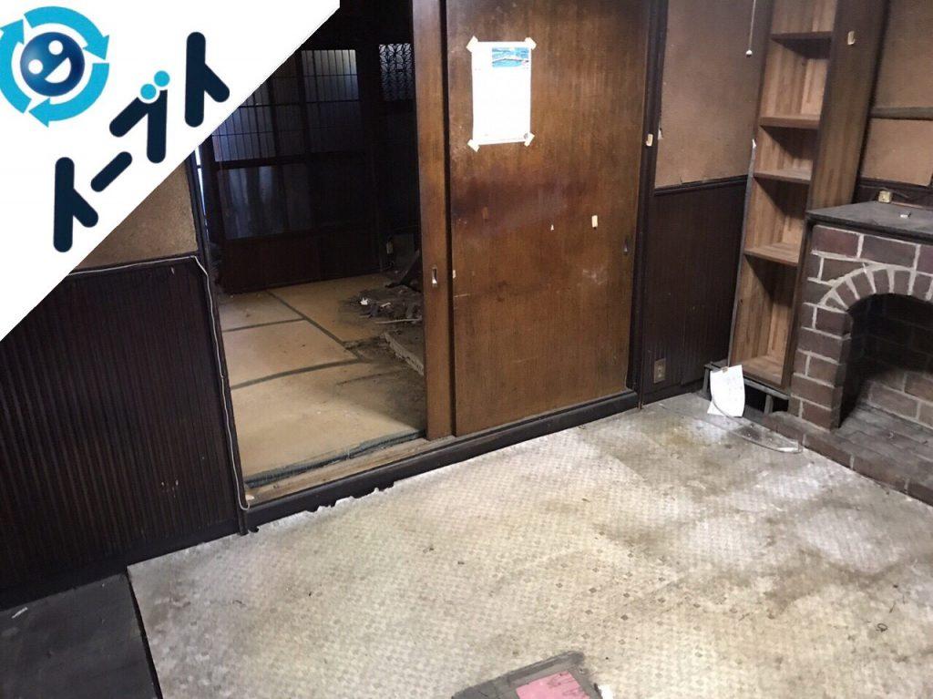 2018年1月2日大阪府大阪市東成区でゴミ屋敷の片付けの依頼で作業してきました。写真1