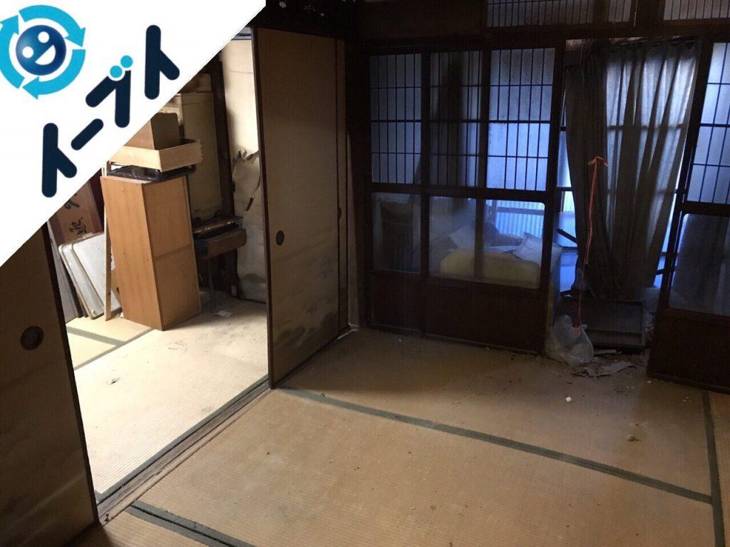 2017年12月6日大阪府大阪市此花区で物が散乱したゴミ屋敷の片付けと処分をしました。写真4