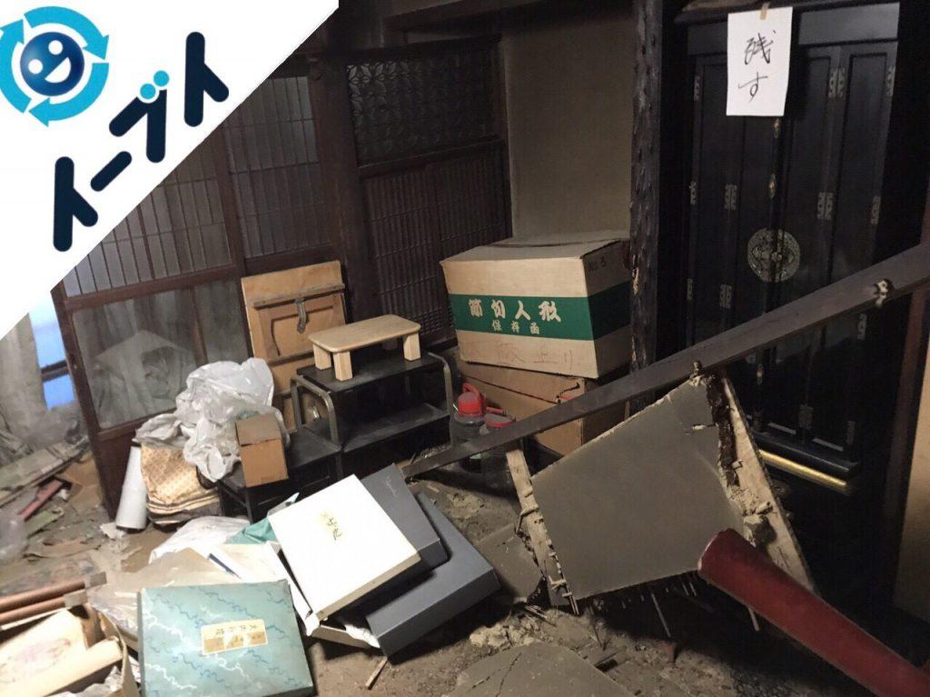 2017年12月6日大阪府大阪市此花区で物が散乱したゴミ屋敷の片付けと処分をしました。写真3