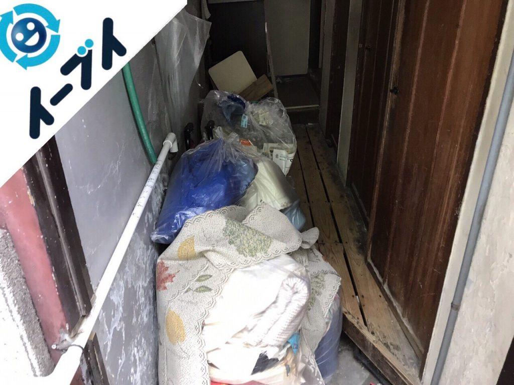 2017年12月12日大阪府大阪市住之江区で物が散乱したゴミ屋敷の片付けをしました。写真2