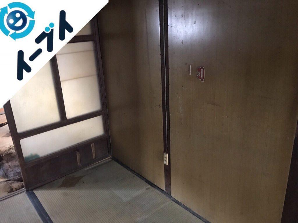 2017年12月26日大阪府大阪市大正区で生活用品が散乱したゴミ屋敷の片付け処分をしました。写真5