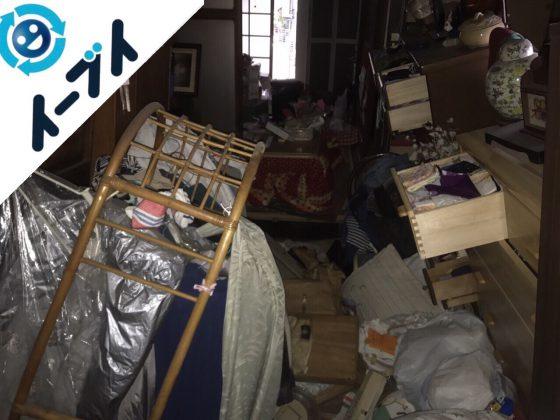 2017年12月5日大阪府大阪市西成区で隠れゴミ屋敷と呼ばれる汚部屋の片付け処分。写真1