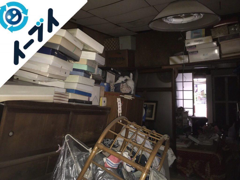 2017年12月5日大阪府大阪市西成区で隠れゴミ屋敷と呼ばれる汚部屋の片付け処分。写真5