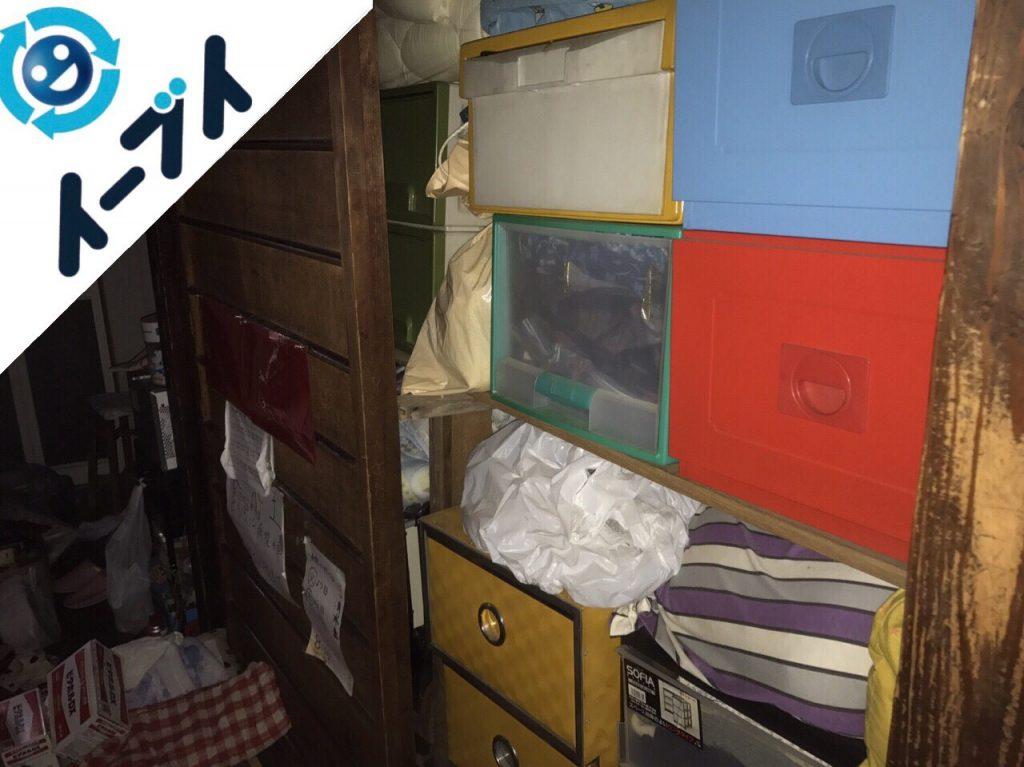 2017年12月5日大阪府大阪市西成区で隠れゴミ屋敷と呼ばれる汚部屋の片付け処分。写真3