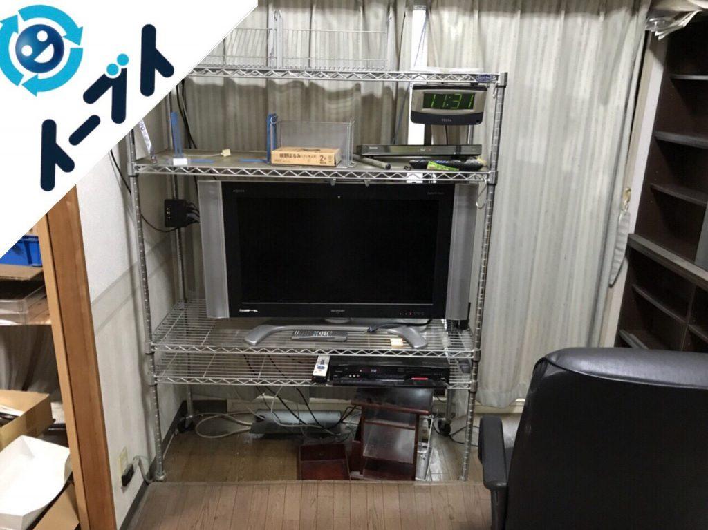 2017年12月21日大阪府大阪市西成区で本棚やテレビなど粗大ゴミの不用品回収をしました。写真2
