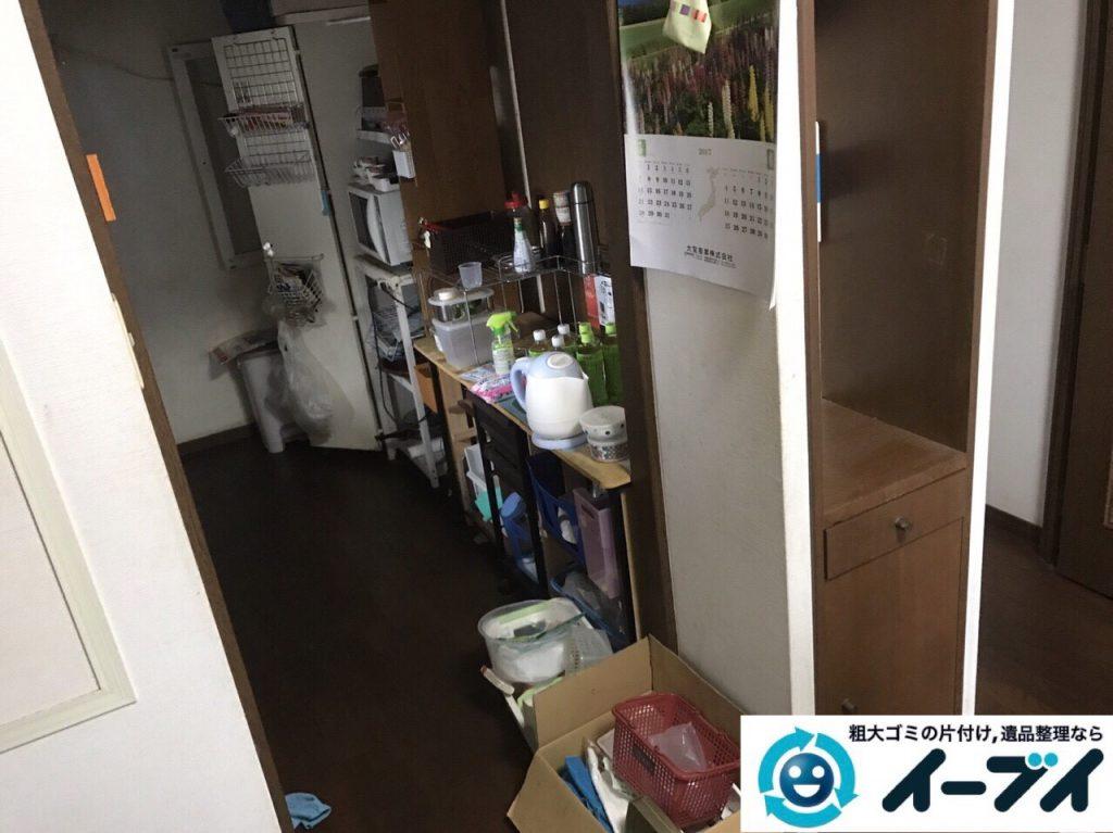 2018年1月23日大阪府大阪市北区で遺品整理に伴う家具処分や遺品処分をしました。写真4