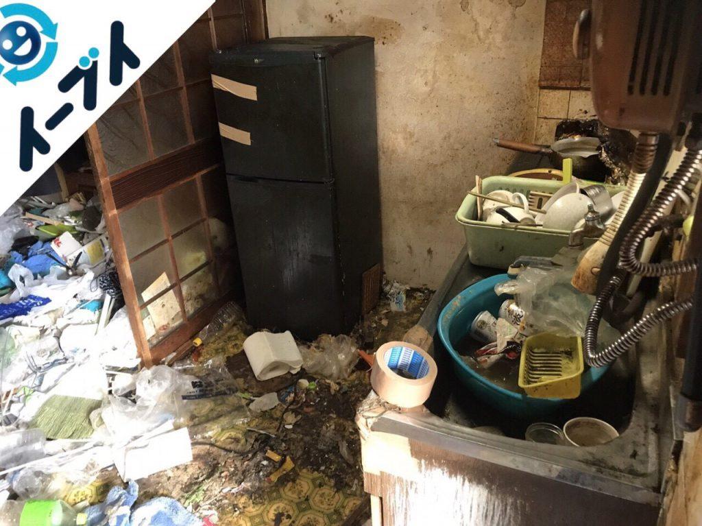 2018年1月11日大阪府大阪市平野区でゴミ部屋状態の汚部屋の片付け処分をしました。写真5