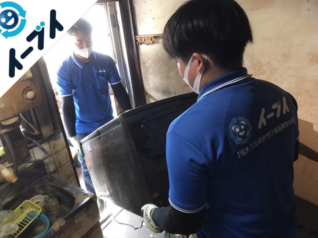2018年1月11日大阪府大阪市平野区でゴミ部屋状態の汚部屋の片付け処分をしました。写真1