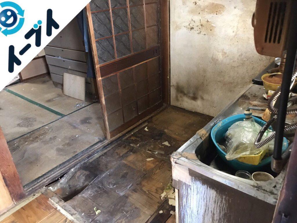 2018年1月11日大阪府大阪市平野区でゴミ部屋状態の汚部屋の片付け処分をしました。写真4