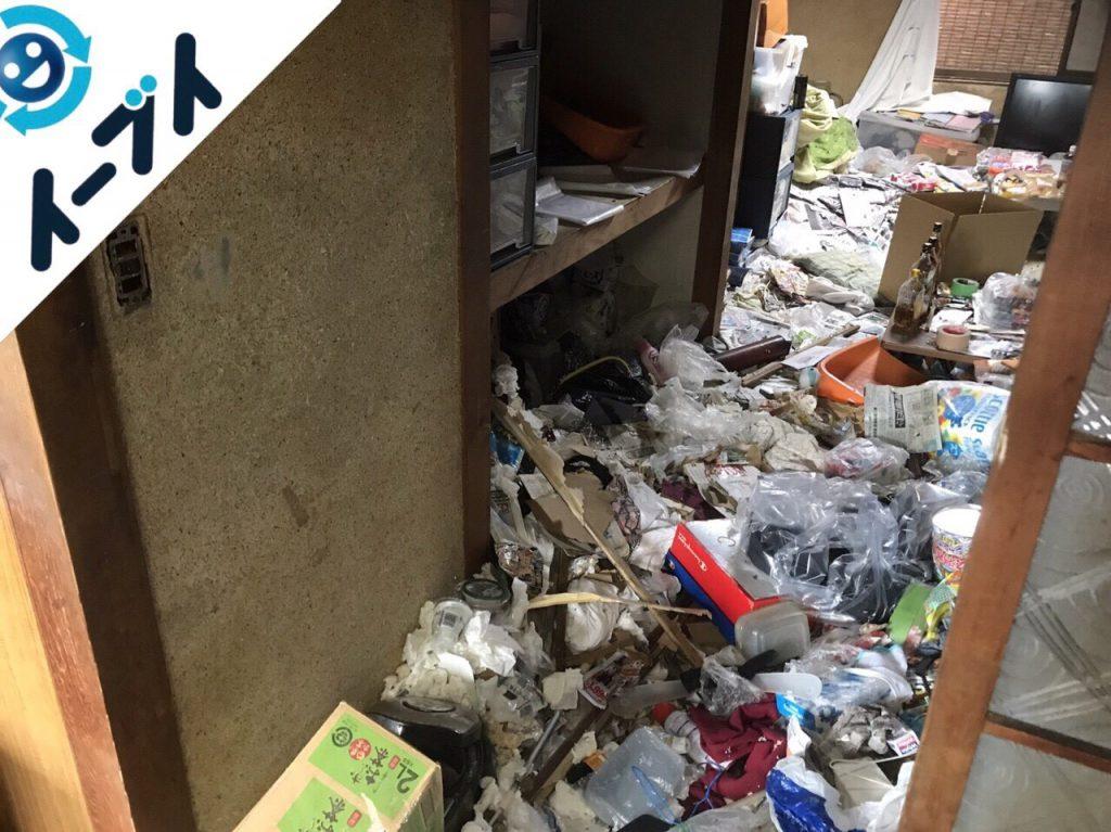 2018年1月11日大阪府大阪市平野区でゴミ部屋状態の汚部屋の片付け処分をしました。写真3