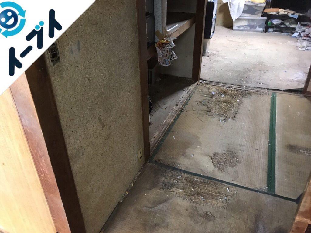 2018年1月11日大阪府大阪市平野区でゴミ部屋状態の汚部屋の片付け処分をしました。写真2