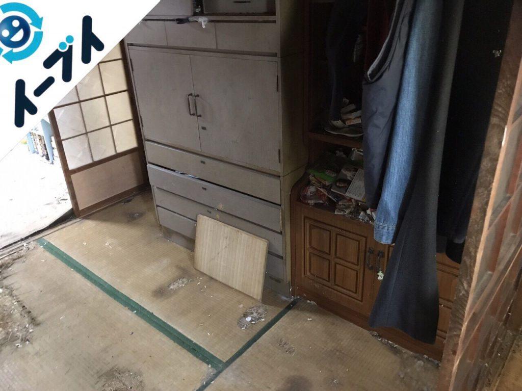 2018年1月22日大阪府大阪市淀川区でゴミ屋敷の片付け処分をしました。写真1