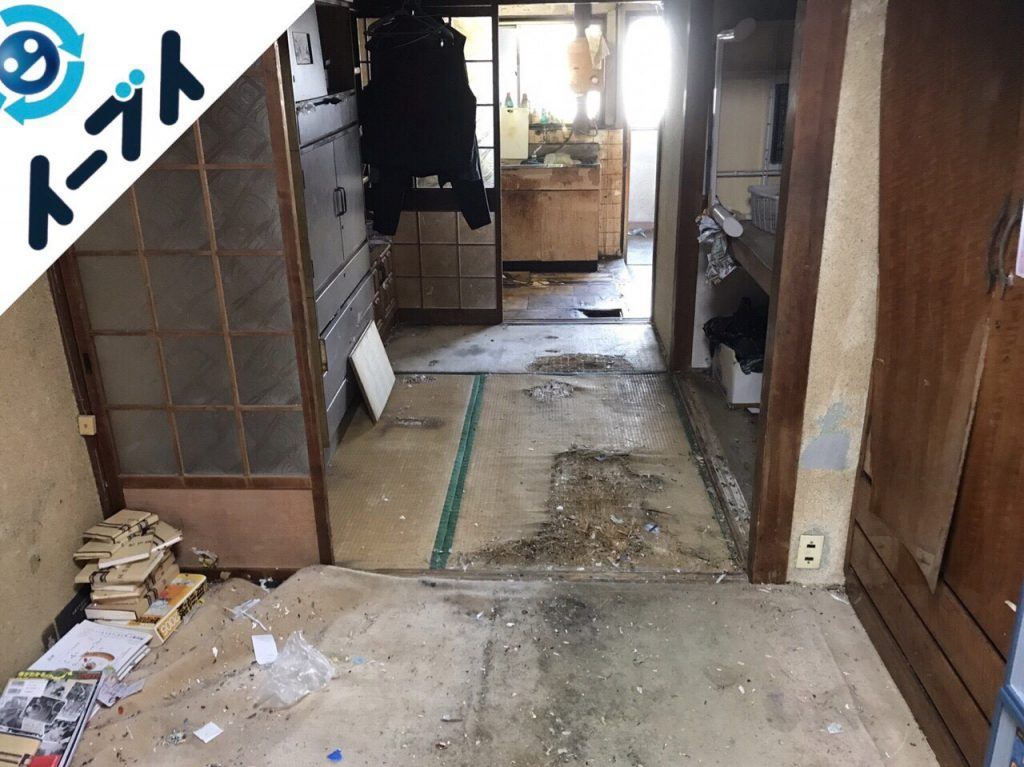 2018年1月22日大阪府大阪市淀川区でゴミ屋敷の片付け処分をしました。写真4