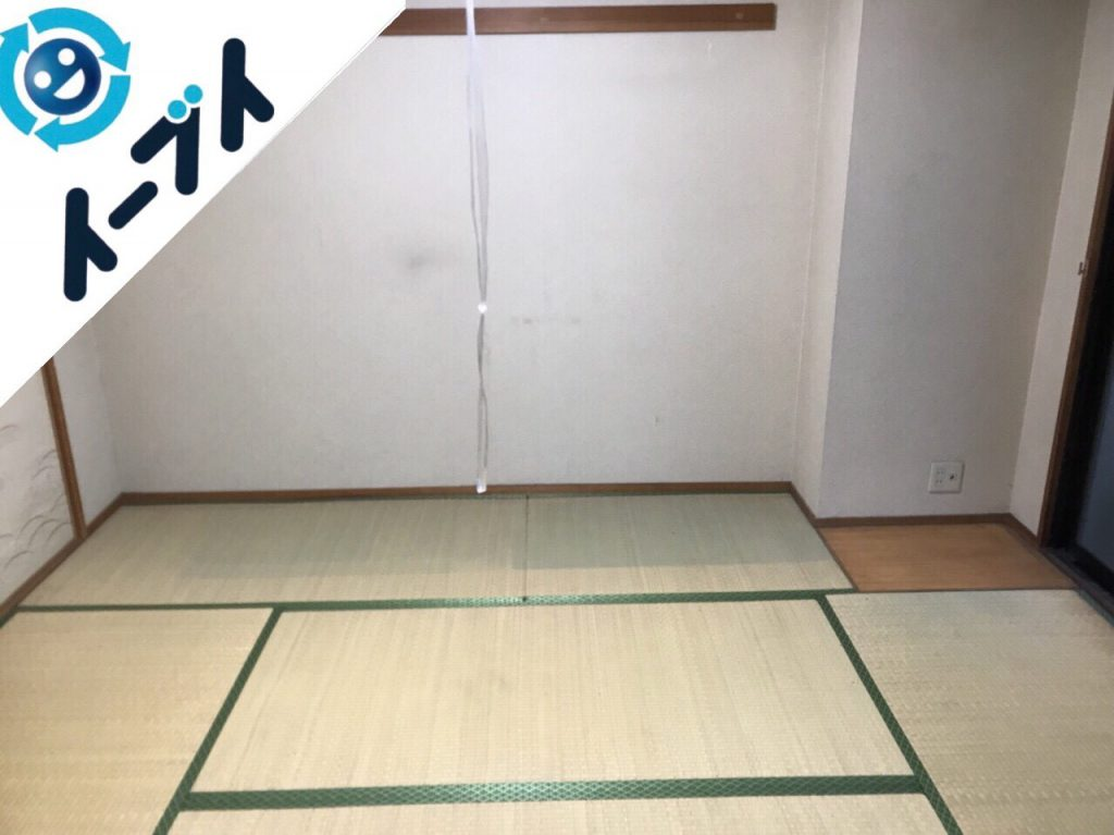 2018年1月19日大阪府大阪市平野区でベッドやラックなど粗大ゴミを不用品回収しました。写真1