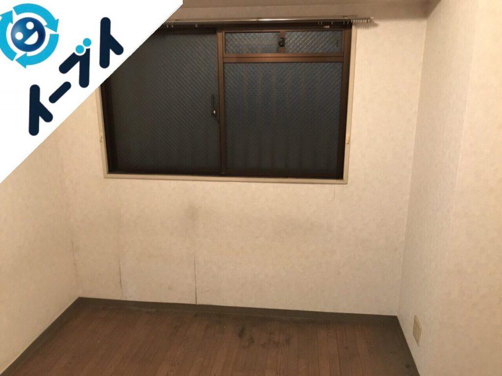 2018年1月29日大阪府大阪市淀川区で大掃除に伴い部屋の丸ごと粗大ゴミの不用品回収をしました。写真1