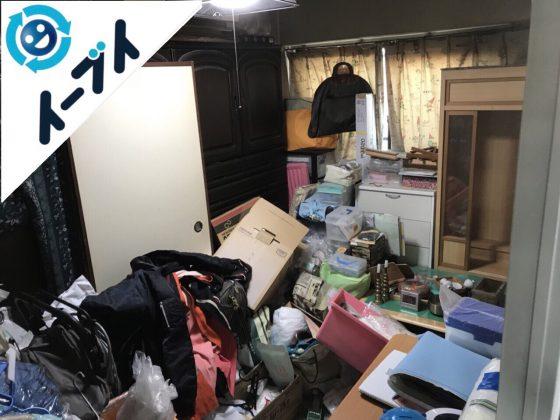 2018年1月13日大阪府大阪市港区で部屋の一室がゴミ屋敷化した衣類や不用品の処分。写真4