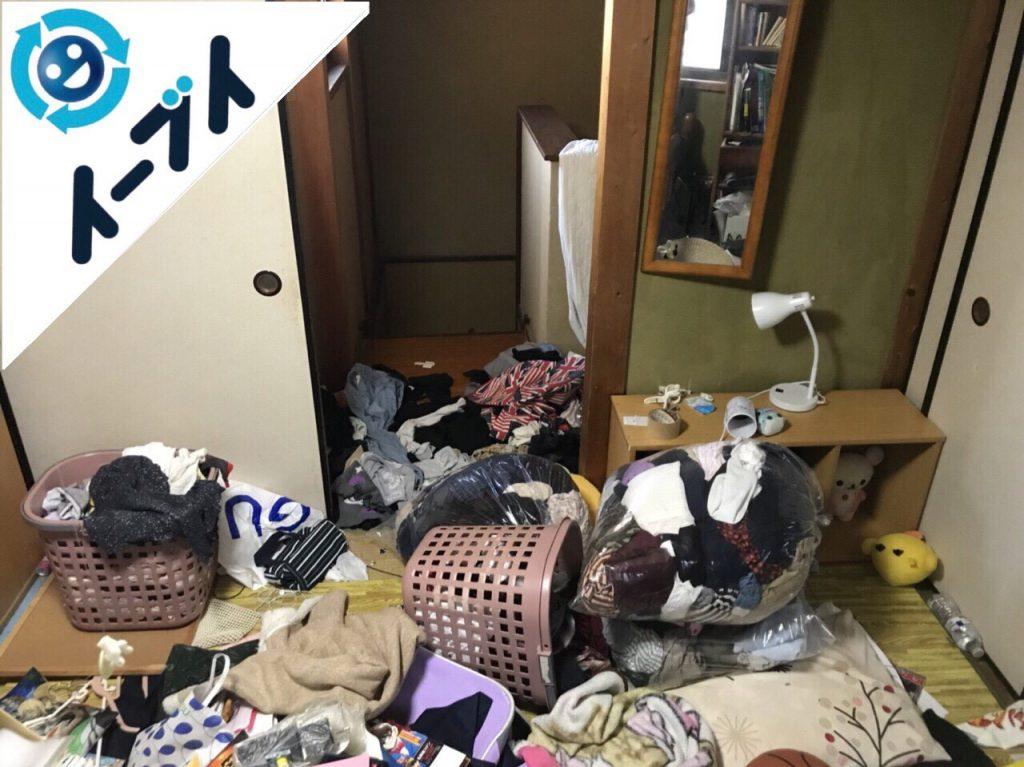 2018年1月14日大阪府大阪市住吉区でゴミ屋敷状態の部屋の整理や片付け処分をしました。写真6