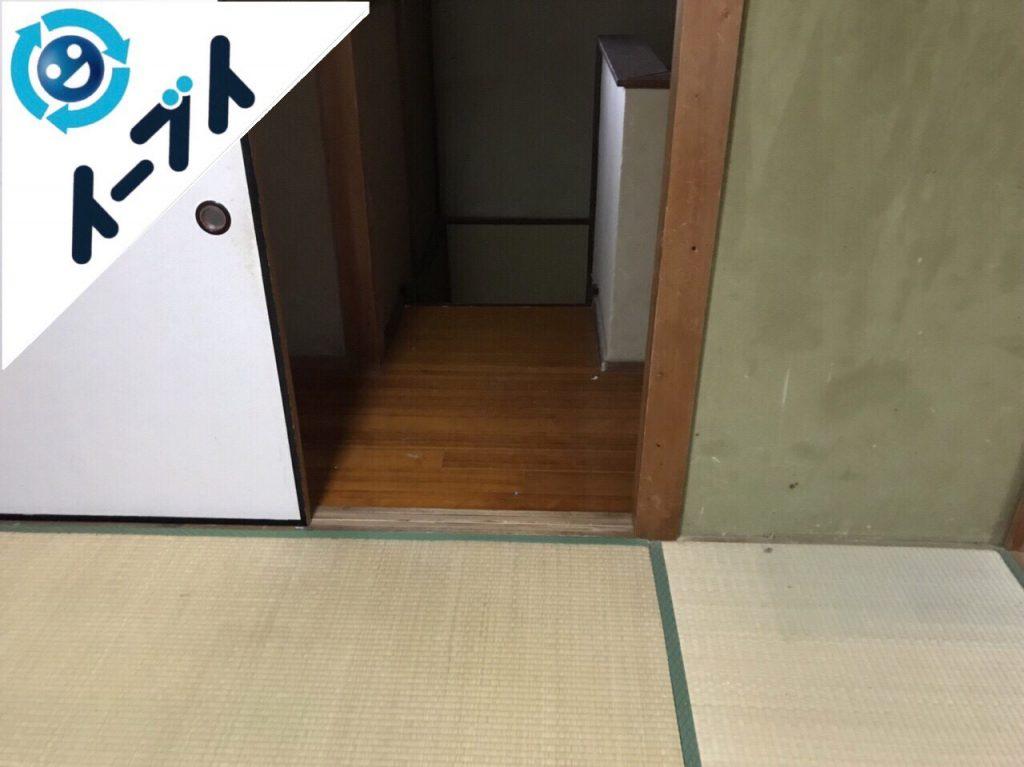 2018年1月14日大阪府大阪市住吉区でゴミ屋敷状態の部屋の整理や片付け処分をしました。写真5