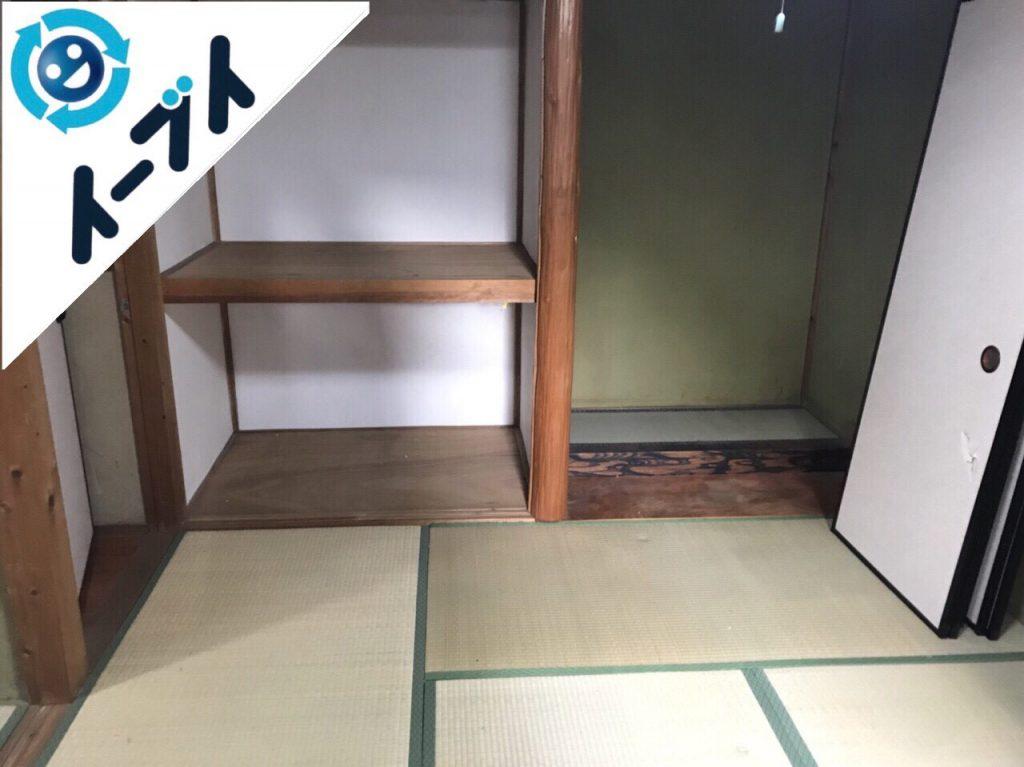 2018年1月14日大阪府大阪市住吉区でゴミ屋敷状態の部屋の整理や片付け処分をしました。写真3