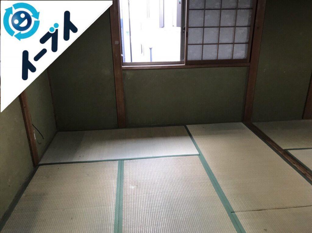 2018年1月14日大阪府大阪市住吉区でゴミ屋敷状態の部屋の整理や片付け処分をしました。写真1