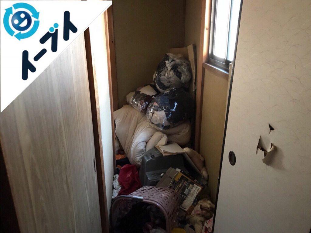 2018年2月1日大阪府堺市堺区で玩具や衣類の日用品が散乱したゴミ屋敷の片付け。写真2