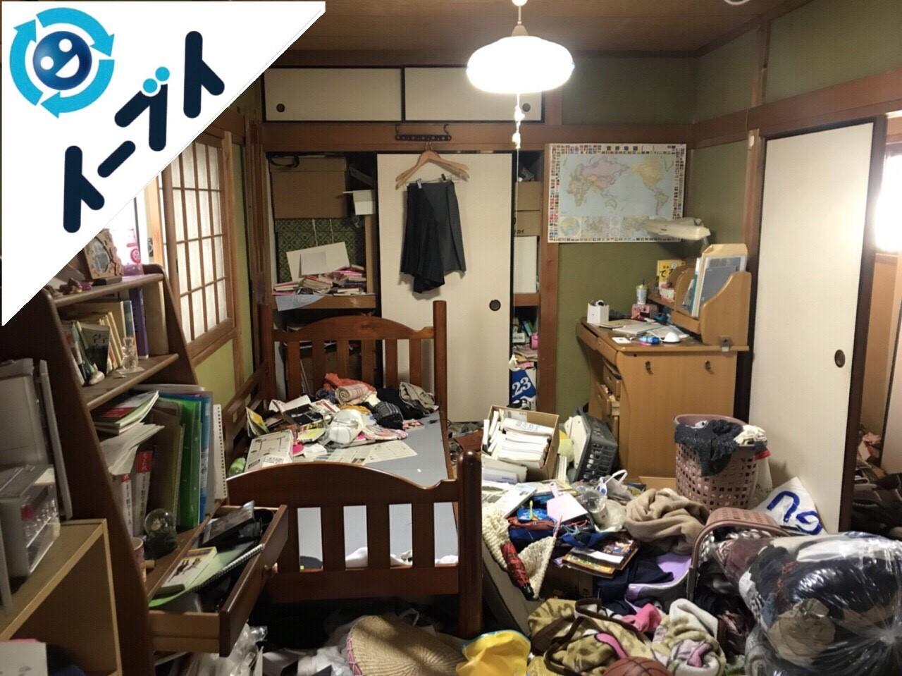2018年2月1日大阪府堺市堺区で玩具や衣類の日用品が散乱したゴミ屋敷の片付け。写真6