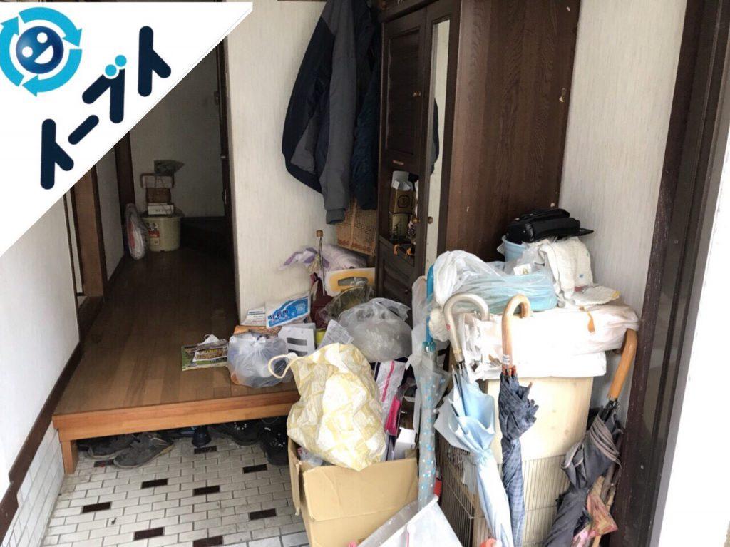 2018年1月17日大阪府大阪市東住吉区で下駄箱や靴などの粗大ゴミの片付けで不用品回収をしました。写真4