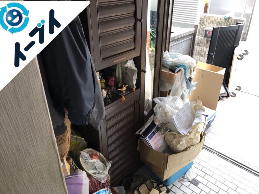 2018年1月17日大阪府大阪市東住吉区で下駄箱や靴などの粗大ゴミの片付けで不用品回収をしました。写真2