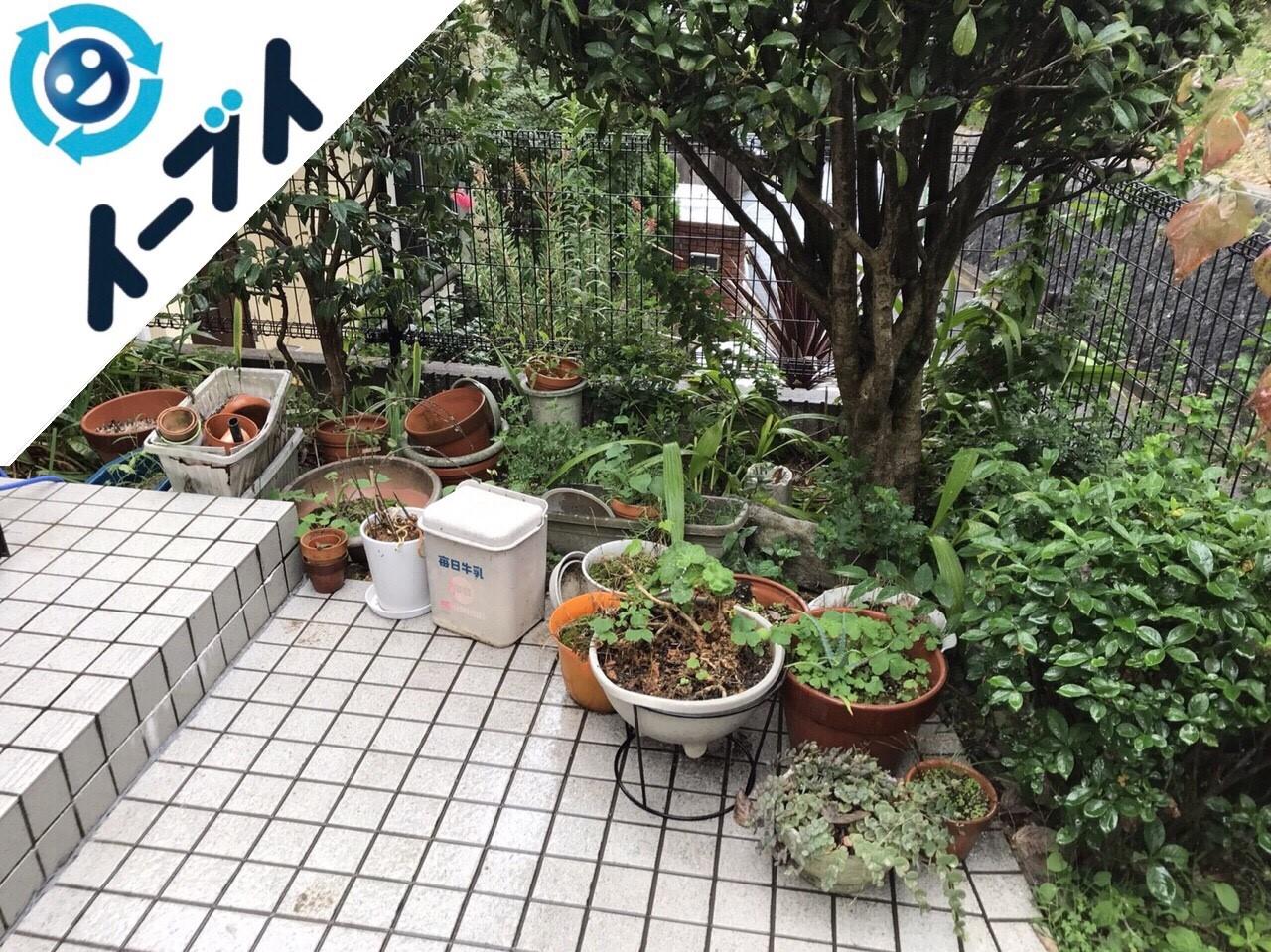 2018年2月4日大阪府茨木市で玄関の植木鉢や廃品の不用品回収をしました。写真1