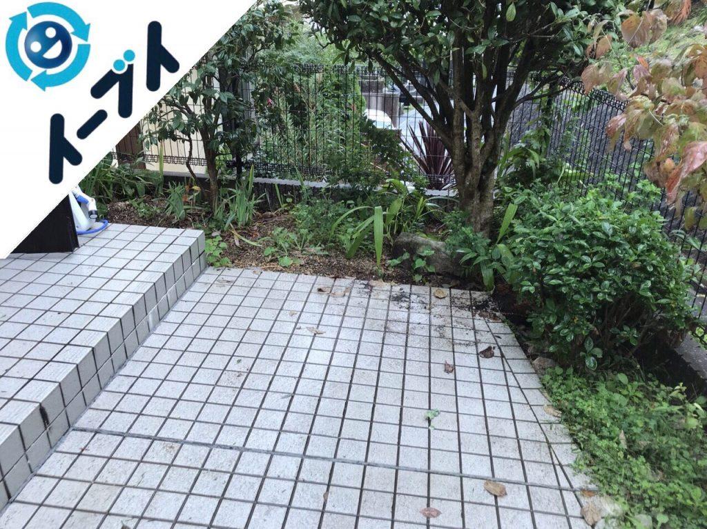 2018年2月4日大阪府茨木市で玄関の植木鉢や廃品の不用品回収をしました。写真4