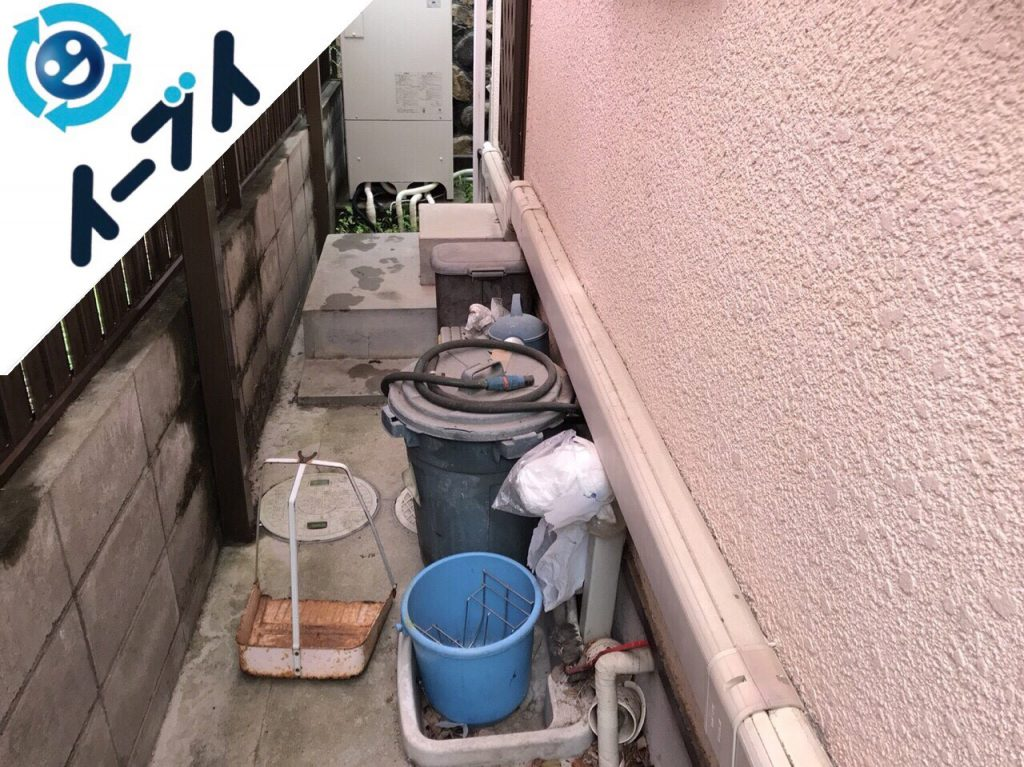 2018年2月4日大阪府茨木市で玄関の植木鉢や廃品の不用品回収をしました。写真3