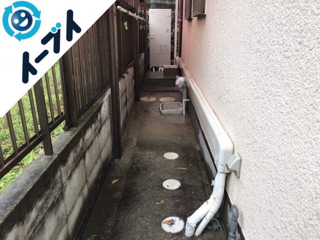 2018年2月4日大阪府茨木市で玄関の植木鉢や廃品の不用品回収をしました。写真2