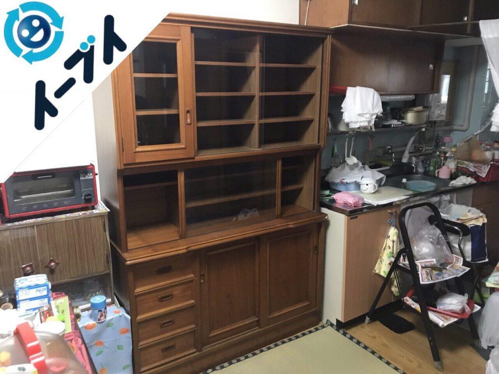 2018年2月13日大阪府高槻市で食器棚や和タンスの不用品回収をしました。写真4