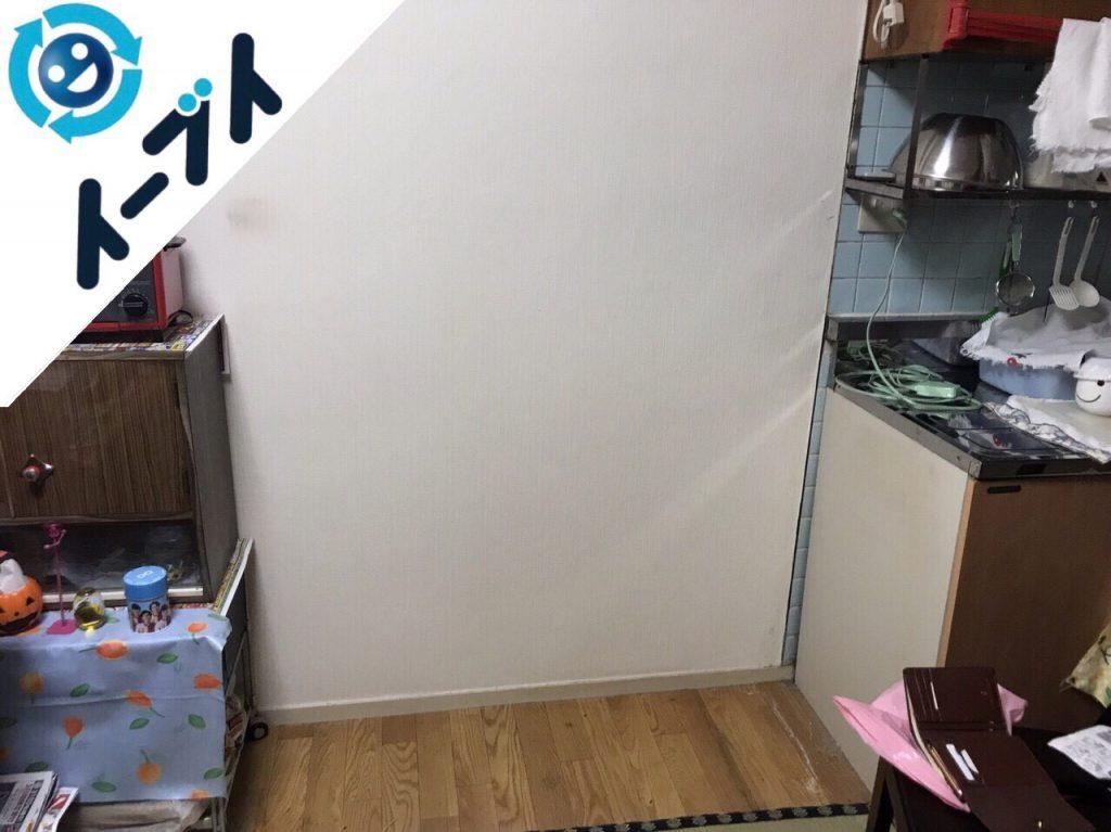 2018年2月13日大阪府高槻市で食器棚や和タンスの不用品回収をしました。写真3