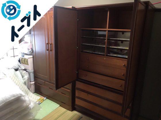 2018年2月13日大阪府高槻市で食器棚や和タンスの不用品回収をしました。写真2