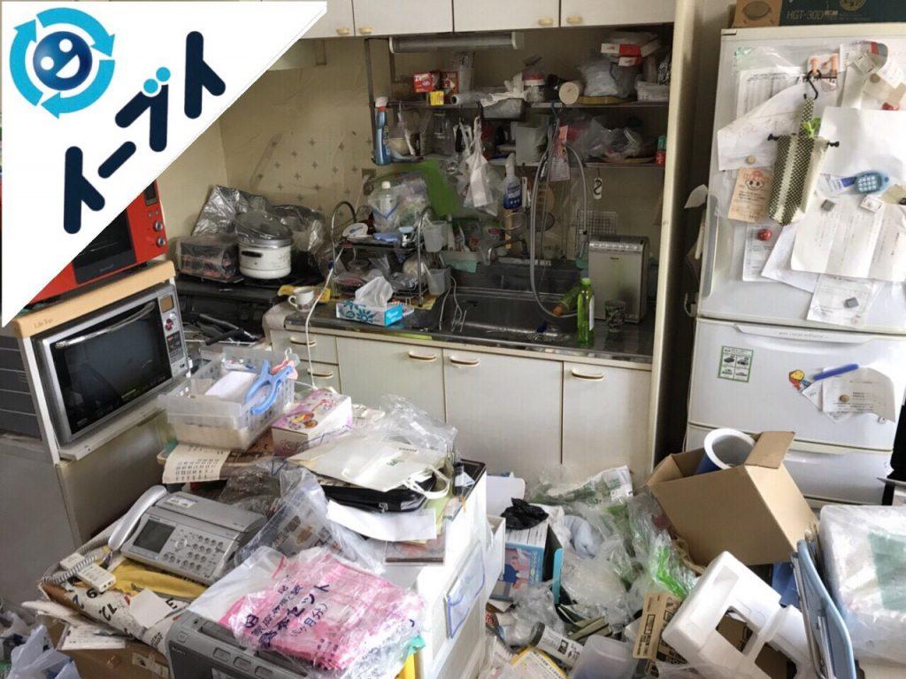 2018年2月3日大阪府茨木市でゴミ屋敷の家具処分や片付け作業。写真3