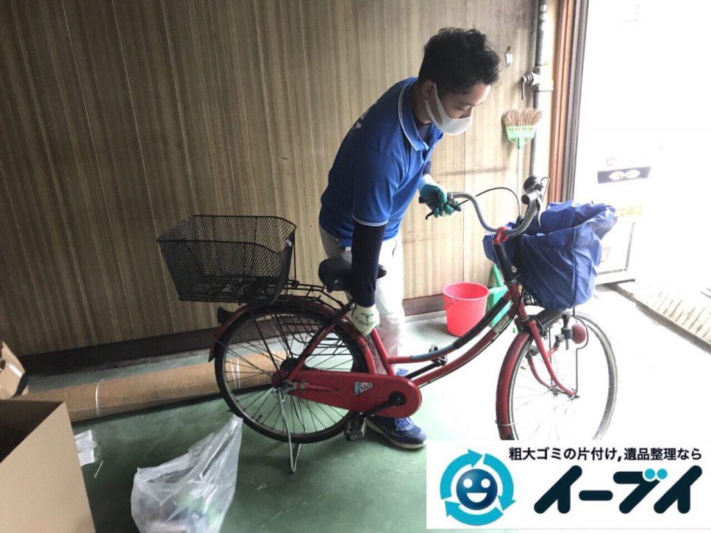 2018年3月2日大阪府大阪市大正区で絨毯や自転車等の粗大ゴミの不用品回収をしました。写真2