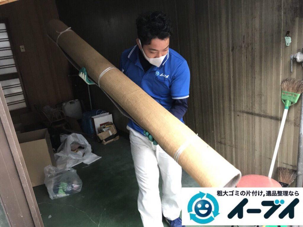 2018年3月2日大阪府大阪市大正区で絨毯や自転車等の粗大ゴミの不用品回収をしました。写真1