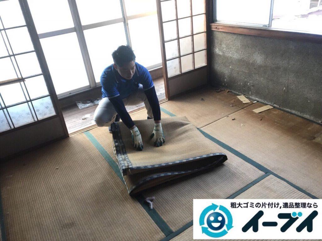 2018年2月25日大阪府大阪市此花区で絨毯や大型家具などを不用品回収しました。写真5