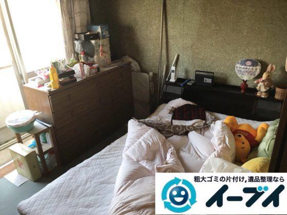 2018年2月22日大阪府大阪市旭区でベッドマットレスや布団やタンスの粗大ゴミの不用品回収。写真4