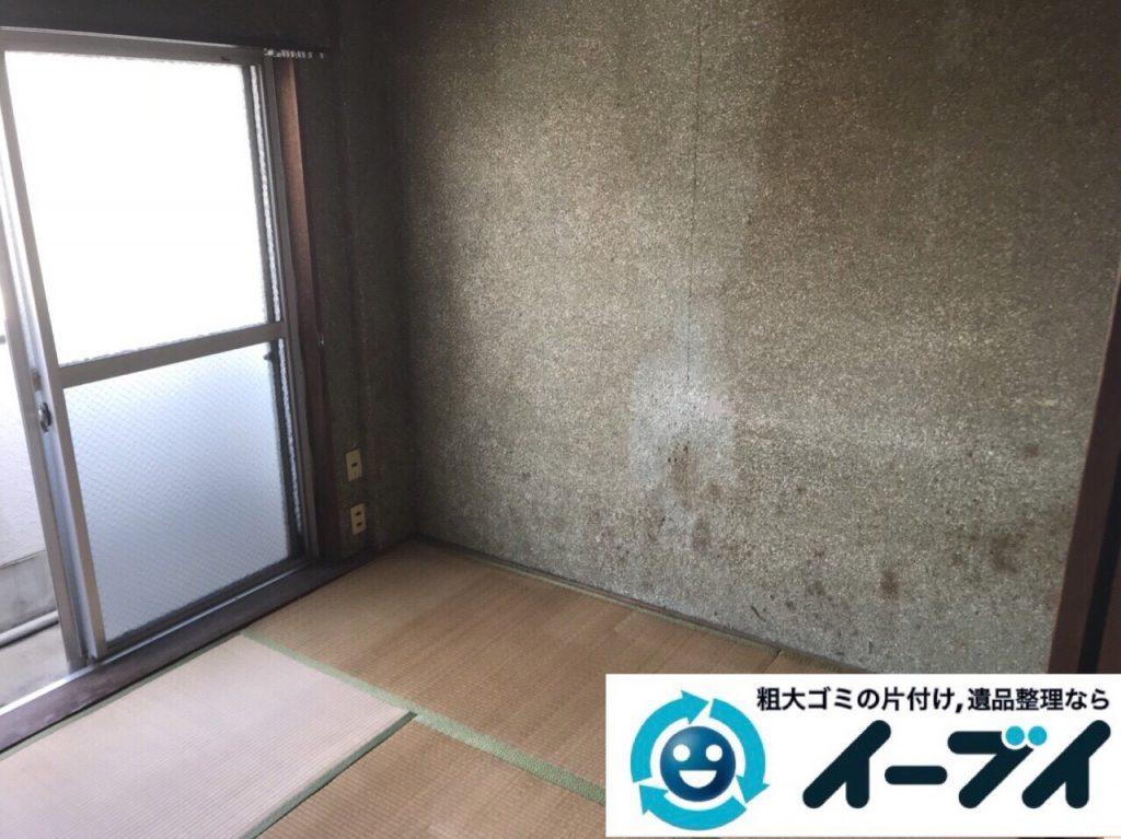 2018年2月22日大阪府大阪市旭区でベッドマットレスや布団やタンスの粗大ゴミの不用品回収。写真3